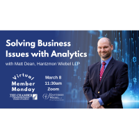 Member Monday: Solving Business Issues with Analytics