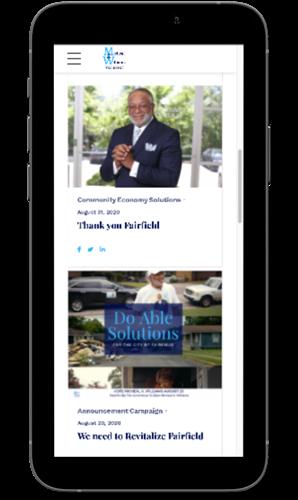 MK Williams Mobile Website View