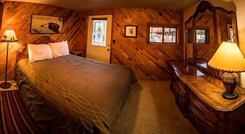 One of three bedrooms in the Lake Granby Suite. (Unit 1)