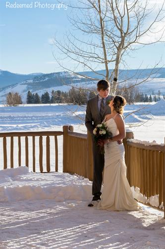 Winter Wedding at the Lodge Photo courtesy of Redeemed Photography