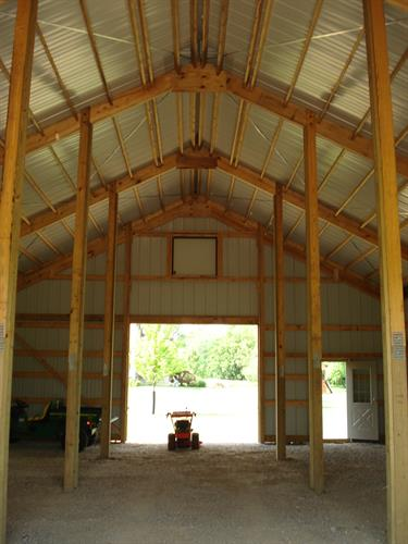 Interior of Stall Barn Before Stalls and Loft