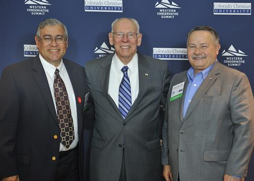 L-R Vice-Chair Dr. Michael T. Parra MD, Rafael Cruz, Chairman Hugo Chavez-Rey