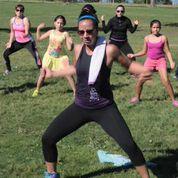 Alejandra leads a Zumba class!