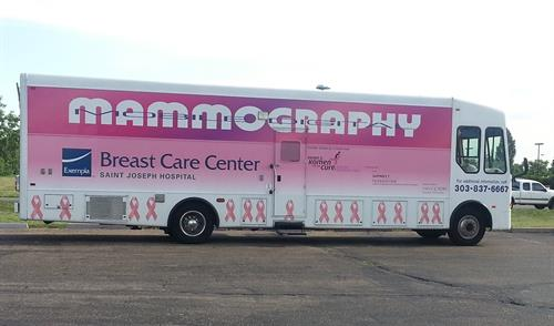 St. Joseph Hospital and Komen Mammogram Van.