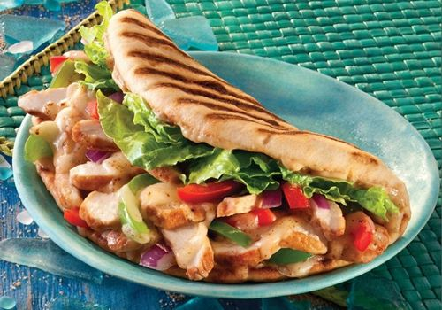 Our Baja Chicken Flatbread is only $4.79! (Add a smoothie for $3.50 -- now that's a Value Meal!)