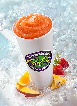 Mangos, Oranges, Pineapplies & Strawberries -- Oh My! Try our Sunrise Sunset smoothie today!