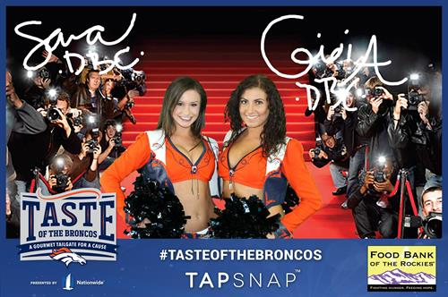 Taste of the Broncos, Get your Autographed Photo with a Denver Bronco Cheerleader!