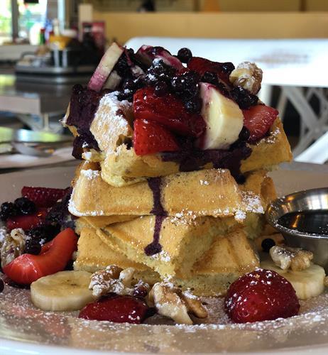 Vegan & GF Blueberry Explosion Waffle