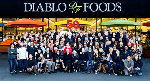 Diablo Foods' 50th anniversary group photo