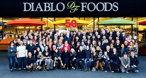 Diablo Foods' 50th anniversary group photo