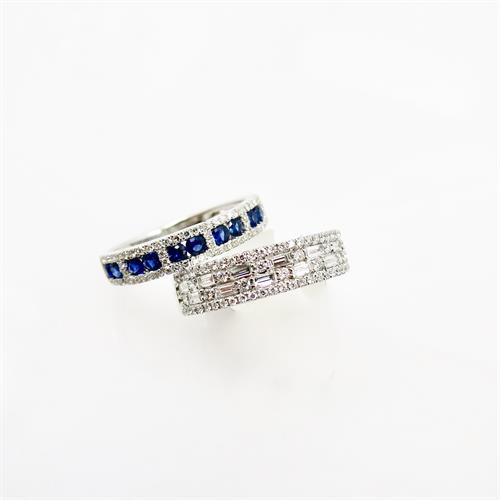 Color Color color! Diamond with sapphire is the perfect combo!