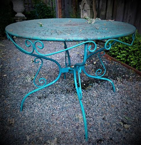 Vintage Distressed Blue Table