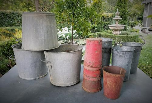 Sap Bucket and Fench Canning Buckets