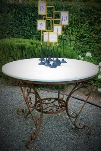 Vintage French Style Patio Table