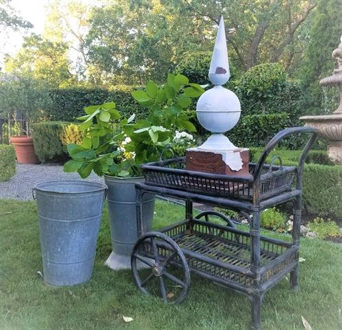 Vintage Tea Cart, Finial and Market