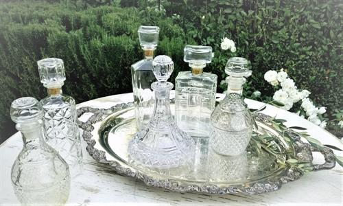 Silver Tray and Decanters