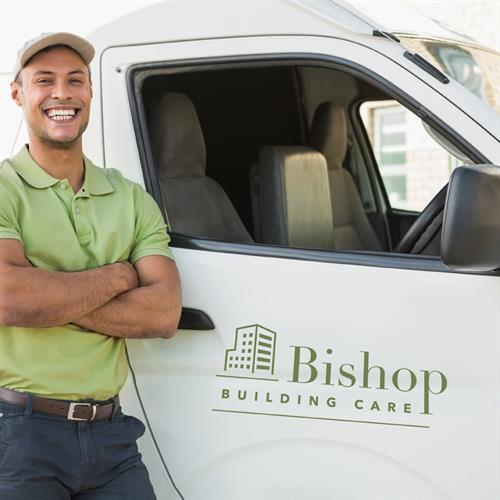 Bishop Building Care Vehicle Branding Design