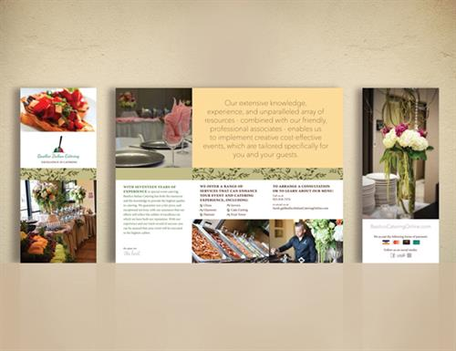 Basilico Catering Brochure Design (existing logo)