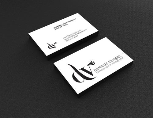 DV Makeup Artist Business Card Design