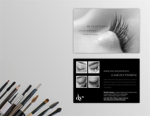 DV Makeup Artist Postcard Promo Design