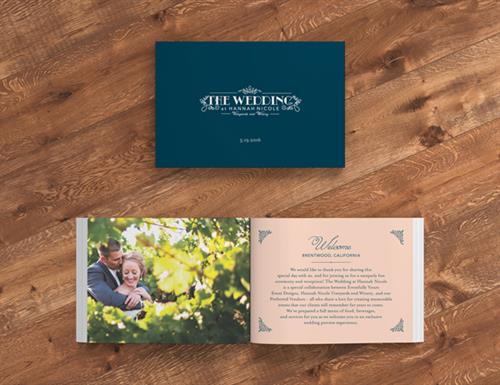 The Wedding at Hannah Nicole Brochure Design 1