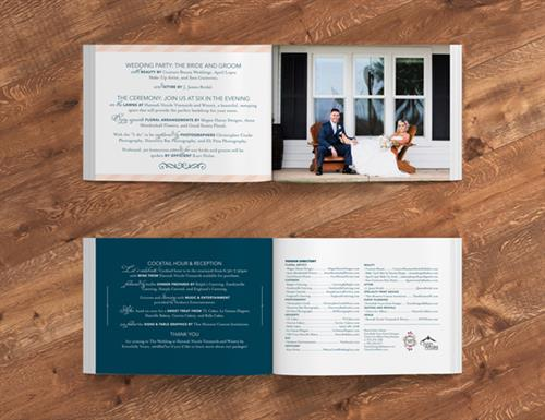 The Wedding at Hannah Nicole Brochure Design 2