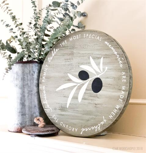 Create a Custom Lazy Susan as a Gift for that Special Wedding