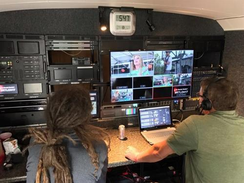 Inside the IVP Production truck