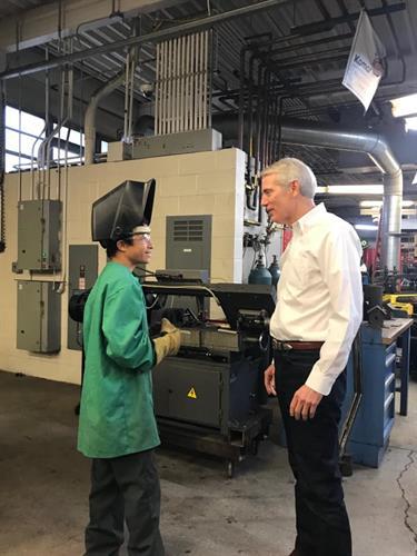 Senator Portman visit in Welding