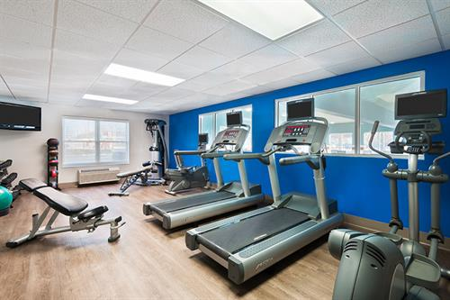 Keep up on your workout routine in our Fitness center