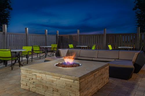 Relax by the hotels fire pit