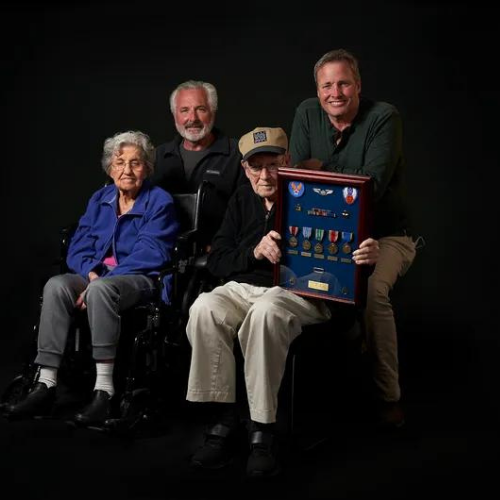WW2 Veteran Harry Diehl and Family