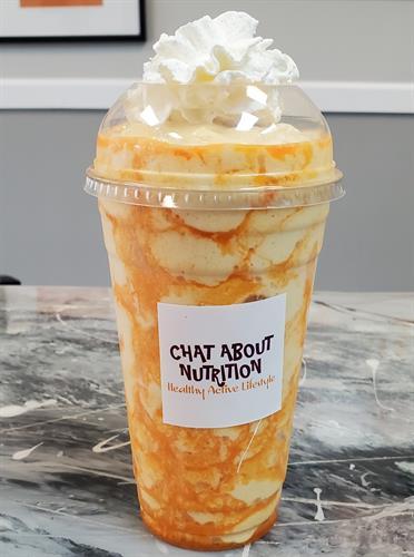 orange cream lava shake