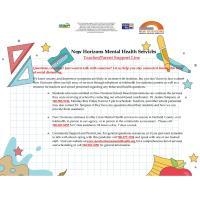New Horizons Mental Health Services Teacher/Parent Support Line