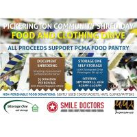 Community Shred Day, Clothing and Food Drive at Storage One Self Storage