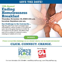 The Lord's Place 13th Annual Ending Homelessness Breakfast