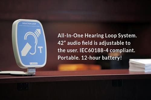 Counter or Desk-Top Hearing Loop System for clarity, privacy and ADA compliance!