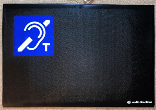 Durable, Rubber Floor Mat with Hearing Loop works for seated and standing individuals.