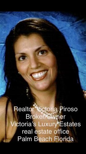 Broker/Owner Realtor Victoria Piroso