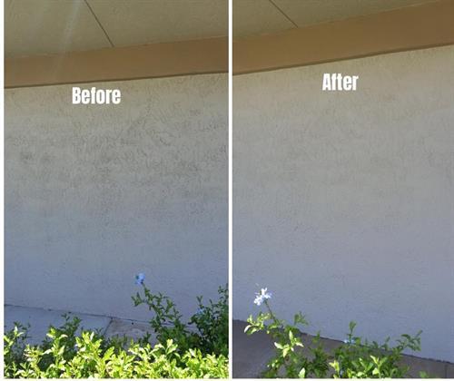 Before & After Sanitize building
