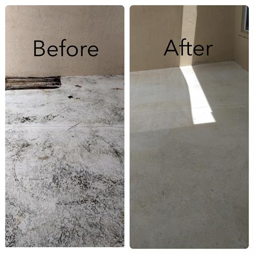 before and after concrete cleaning