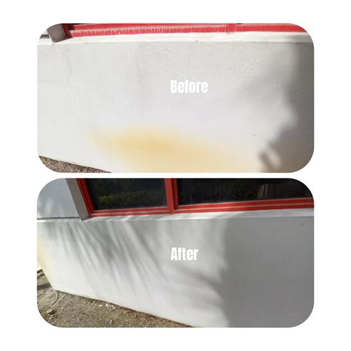 Before & After Fire Station rust removal