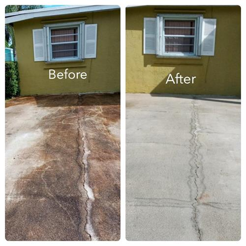 Before & After Algae removal