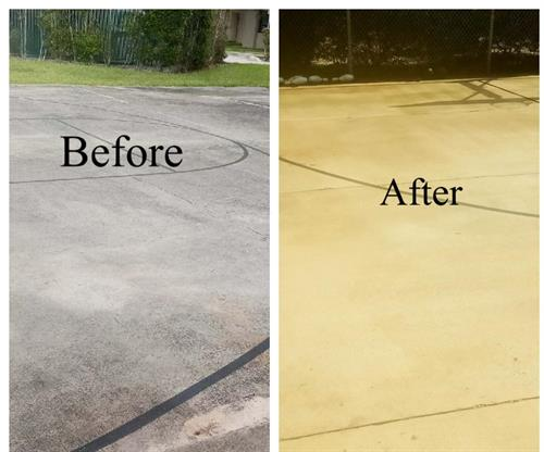 Before & After Surface sanitizing cleaning