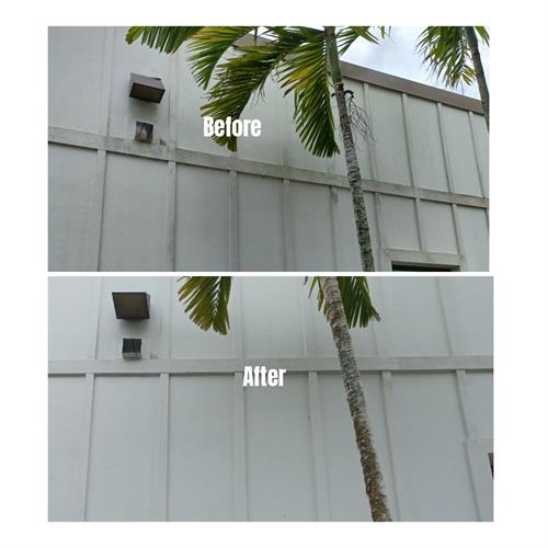 Before & After sanitizing cleaning