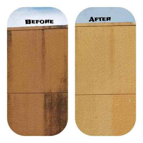 Before & After sanitizing building