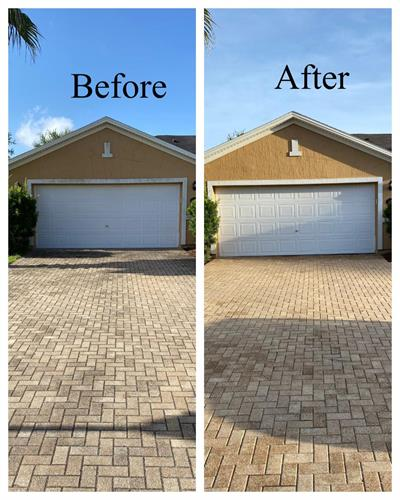 before and after driveway treatment
