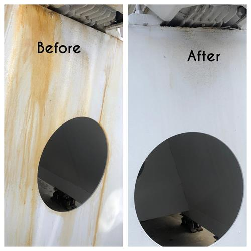 Before & After rust removal at water plant