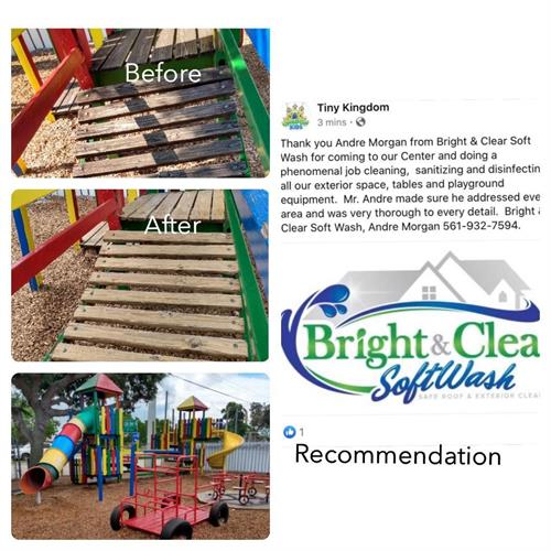 Before & After Play Ground sanitizing cleaning