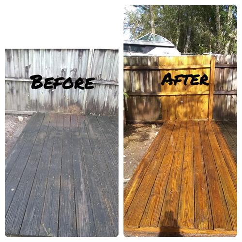 Before & After Wood restoring